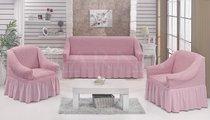 "Набор чехлов для дивана ""EVERY"" 3+1+1, цвет светло-розовый - Bulsan"