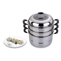 Кастрюля-Мантоварка Agness 3 Уровня Диаметр 24 см, 5 ЛИндукционное Дно - Perfect Housewares