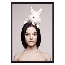 Девушка с кроликом, 21x30 см - Dom Korleone