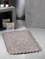 """Коврик для ванной """"MODALIN"""" кружевной DARIN 55x85 см 1/1, цвет коричневый, 55x85 - Bilge Tekstil"""