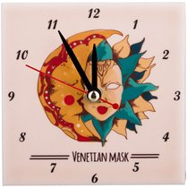 Часы Солнце И Луна 10X10 см - ГлассМун