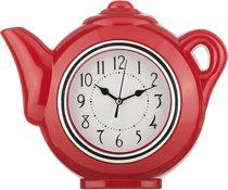 Часы Настенные Кварцевые Chef Kitchen Цвет Красный 30x5x27 см Диаметр Циферблата 12 см - Arts & Crafts