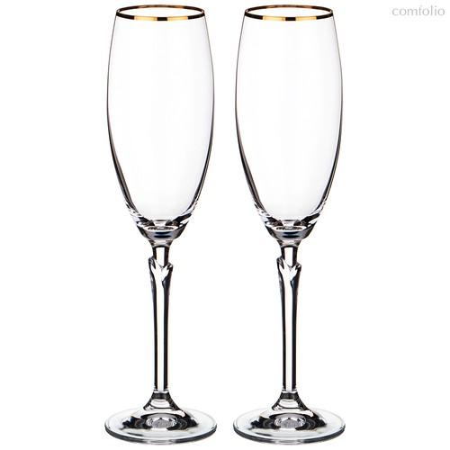 Набор бокалов для шампанского из 2 шт. CELEBRATION 220 МЛ ВЫСОТА=25 СМ (КОР=24Набор.) - Crystalex