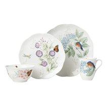 """Сервиз чайно-столовый Lenox """"Бабочки на лугу. Птицы. Синяя птица"""" на 4 персоны 16 предметов"""