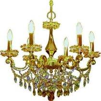 Divo Люстра 6-х рожковая на подвесе gold swarovski strass (crystal AB, Topaz, Lt topaz) - Donolux