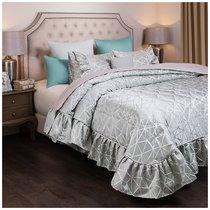 Комплект На Кровать Из Покрывала И 2-Х Нав Модерн 250Х230,50Х70-2Шт, Мятный, 100% Пэ, цвет серый, 230x250 - Santalino