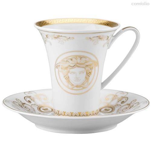"""Чашка кофейная с блюдцем 180мл """"Медуза Гала"""" (золотая) - Rosenthal"""