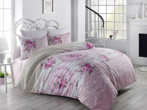 Постельное белье Ranforce Arven, цвет розовый, размер 2-спальный - Karna (Bilge Tekstil)