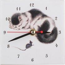 Часы Кошки:Мышка 10x10 см - ГлассМун