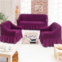 Чехол д/мягкой мебели 3-х пр.(3+1+1) JUANNA, цвет баклажановый - Meteor Textile