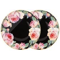 Набор Тарелок Закусочных Винтаж 2 пр. 20,5 см Черный - Jinding
