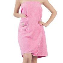 """Набор для сауны """"KARNA"""" женский махровый PARIS 1/3, цвет розовый, 70x150 - Bilge Tekstil"""