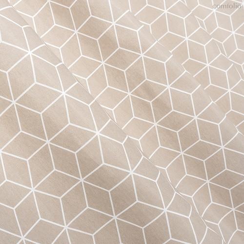 Ткань лонета Гэтсби ширина 280 см/ 3044, цвет бежевый - Altali
