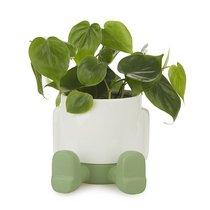 Кашпо керамическое для цветов Mr. Sitty зеленое 20см, цвет зеленый - Balvi