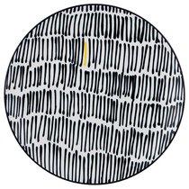 ТАРЕЛКА ПОДСТАНОВОЧНАЯ ЧЕРНО-БЕЛОЕ ДИАМЕТР 27 см КОЛЛЕКЦИЯ VOGUE - Porcelain Manufacturing Factory