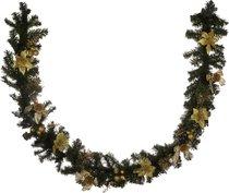 Изделие Декоративное Гирлянда С Золотыми Пуансетиями Длина 200 см - Polite Crafts&Gifts