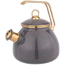 Чайник Agness Эмалированный Со Свистком, Серия Deluxe, 3,0Л Свисток с Титановым Покрытием - Savasan