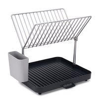 Сушилка для посуды и столовых приборов 2-уровневая со сливом Y-rack серая - Joseph Joseph