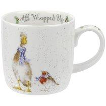 "Кружка Royal Worcester ""Забавная фауна"",""Утка и малиновка"" 310мл, костяной фарфор - Royal Worcester"