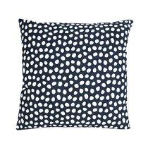 Чехол для подушки из хлопка с принтом Funky dots, темно-серый Cuts&Pieces, 45х45 см - Tkano