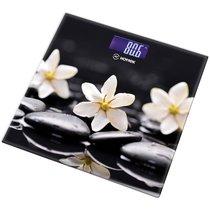 Весы Напольные Цветы На Чёрном Hottek Ht-962-012 30X30 см МаксВес 180Кг - Keyon