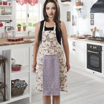 Фартук кухонный Karna с салфеткой 30x50, цвет светло-сиреневый - Karna (Bilge Tekstil)