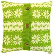 "Вязаный чехол для подушки ""Green"", 43х43 см, 02-V9790/2, цвет зеленый - Altali"