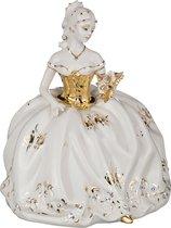 Статуэтка Фарфоровая Дама С Розами 23x18 см Высота 27 см - Sabadin Vittorio