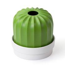 Держатель для салфеток Cactiss, белый с зеленым - Qualy