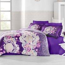 Постельное белье Altinbasak Elvin, сатин, цвет фиолетовый, 2-спальный - Altinbasak Tekstil