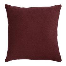 Подушка декоративная из хлопка фактурного плетения бордового цвета из коллекции Essential, 45х45 см - Tkano