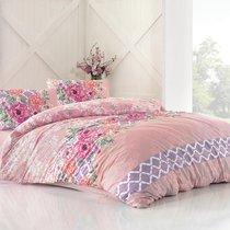 Постельное белье Ranforce Asel, цвет розовый, размер Евро - Altinbasak Tekstil