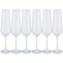 Набор Бокалов Для Шампанского Sandra Sprayed White Из 6 шт. 200 мл Высота 24 см - Crystalex