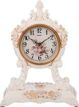 Часы Настольные Кварцевыес Маятником Белые Цветы 27, 5X16, 5X37 см Диаметр Циферблата 13 см - Shantou Lisheng