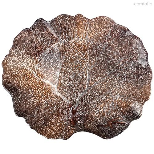 Блюдо Crown Brown 33Х28Х3 см Без Упаковки - Akcam