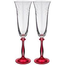 Набор Бокалов Для Шампанского Из 2 шт. Love Red 180 мл Высота 25 см - Crystalex