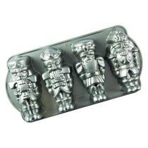 """Форма для выпечки 4 кексов 3D Nordic Ware """"Щелкунчик"""" 1,2л, литой алюминий - Nordic Ware"""