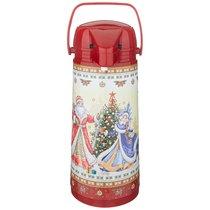 Термос Agness Christmas Collection Со Стеклянной Колбой И Помпой 1. 9 Л, 1.9 л - Perfect Housewares