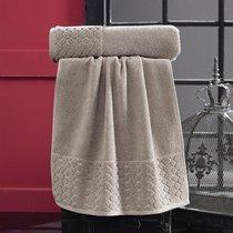 "Полотенце махровое ""KARNA"" PONPON 50х90 см 1/1, цвет коричневый, 50x90 - Bilge Tekstil"