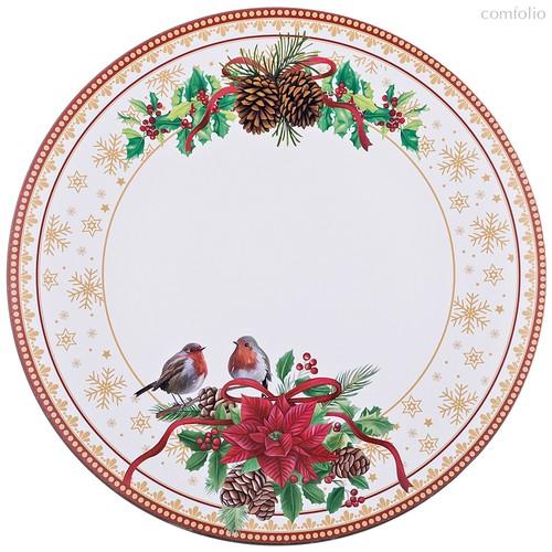 Поднос Коллекция Рождественская Сказка Диаметр 40 см - BWSS Kitchenware