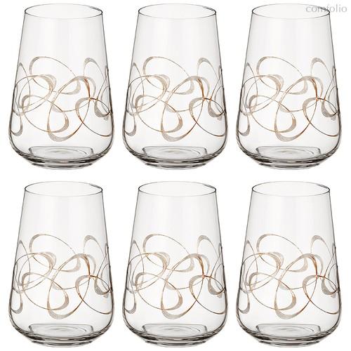 Набор стаканов из 6 шт. SANDRA 380 мл ВЫСОТА 12 см . (КОР 1Набор.) - Crystalex