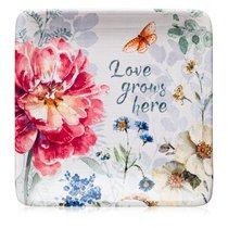 Тарелка пирожковая Certified Int. Весенний Букет. Розовый цветок 15см, керамика - Certified International