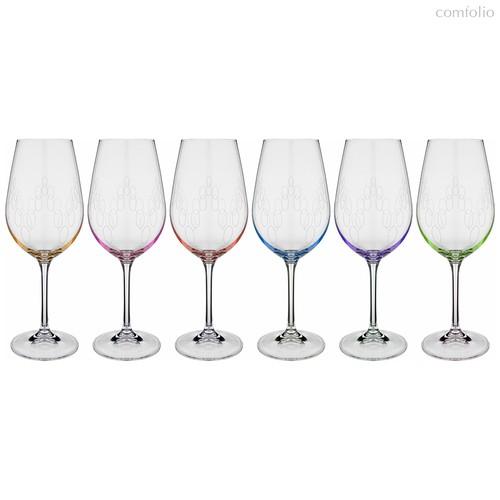 Набор бокалов для вина из 6 шт. VIOLA 450 мл ВЫСОТА=23,5 СМ - Crystalex