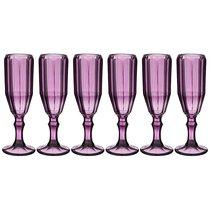 Бокалы для шампанского Рока 6 шт. Серия Muza Color 150 мл Высота 20 см - Dalian