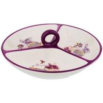 Менажница 3-Х Секционная Лавандовая Весна 22x22x7,5 см - Huachen Ceramics