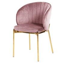Кресло Coral, велюр, пыльная роза, цвет розовый - Berg