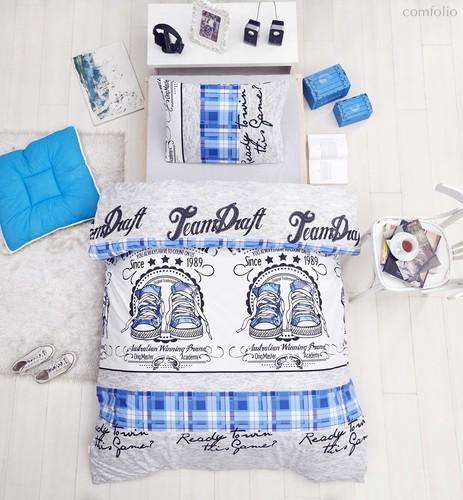 Постельное белье Ranforce Molly, цвет голубой, размер 1.5-спальный - Altinbasak Tekstil