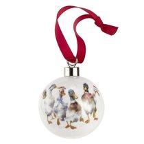 """Шар новогодний Royal Worcester """"Забавная фауна"""", """"Утки"""" 6,6см, керамика, п/к - Royal Worcester"""