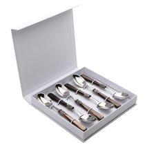 Набор чайных ложек 6 штук Жиневра Перламутр Браун, подар.упаковка - EME Posaterie