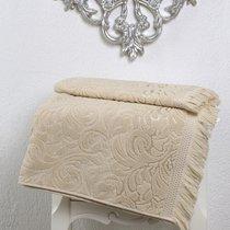 Полотенце махровое Karna Esra, цвет бежевый, размер 70x140 - Karna (Bilge Tekstil)